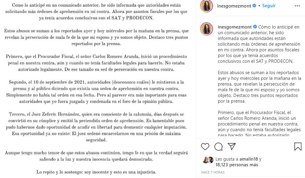 Gómez Mont destaca puntos sobre persecución